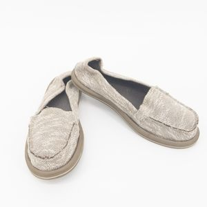 Sanuk Knit Texture Ohm My Loafers Slip on Beach
